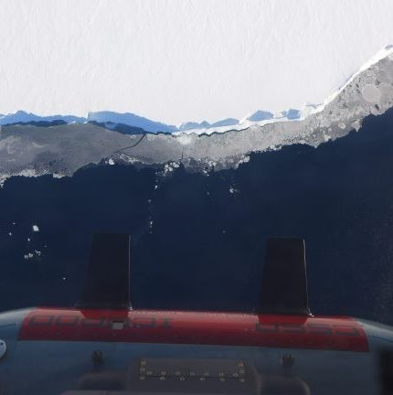 aerial view of Icepod over Ross Ice Sheet