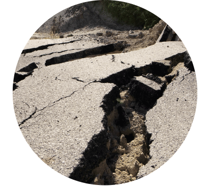 Anticipating earthquakes crack in earth